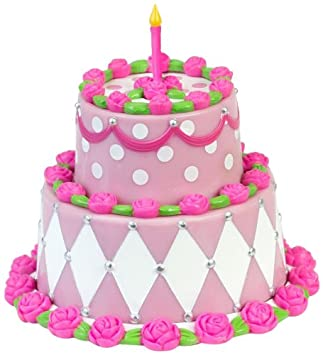 Sophias Miniature Two Tiered Cake Sized For 18quot Dolls Detailed Pink Birthday