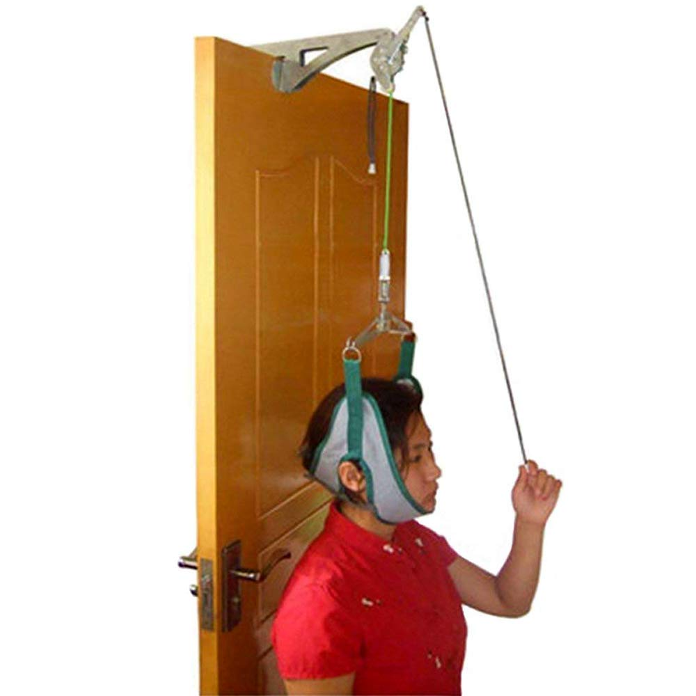 genmine Over The Door Cervical Traction Device Set Unit for Neck Shoulder Brace Head Pain Relief Home by genmine