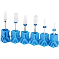 MagiDeal Paquete De 6 Unids Cuticle Clean Nail Drill Bit Set Rotary Grinding Head Clavos De Uñas Bits Para Nail Art Electric Manicure Machine Accesorios