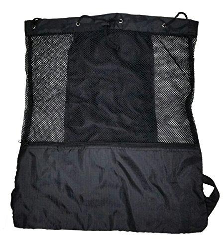 ジャンボSwim Gearビーチメッシュバックパック(ブラック)