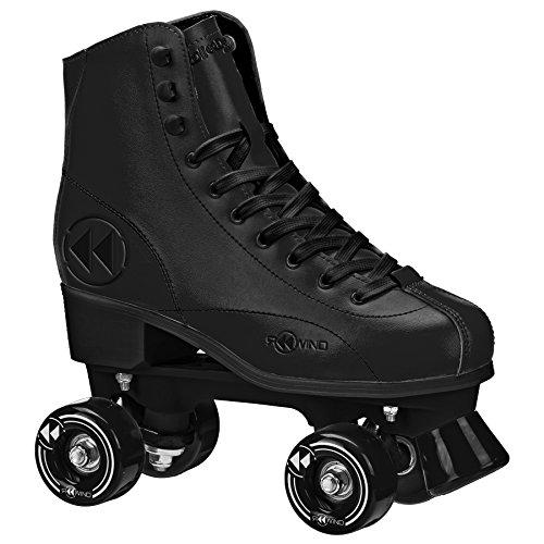 Skates Mens Roller (Roller Derby  Rewind Unisex Roller Skates (Size 10) - Black)