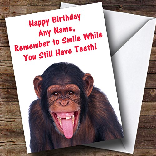 Toothless Monkey Personalized Birthday Greetings Card -