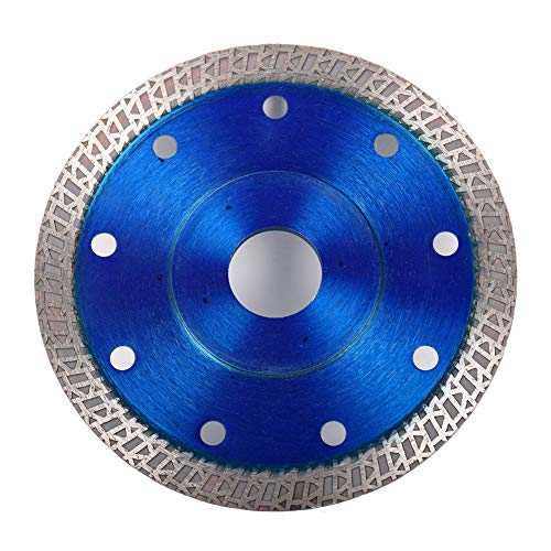 Rainbow Finch Dry or Wet Mesh Turbo Dimond Saw Blade for Cuting Porcelain Tiles Granite Marble Ceramics Super Thin 4.5 Inch Blue