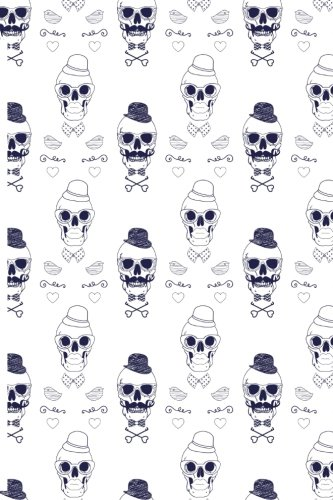 Inside Your Skull: Medium Dotted Grid Notebook With Skull Pattern Cover Quipoppe Publications