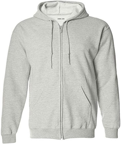 Joe's USA(tm Mens Tall Fleece Full-Zip Hooded Sweatshirts-Ash-3XLT ()