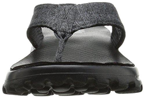 Skechers Gowalk Move Solstice - sandalias atléticas de lona mujer negro - Black (Bbk)