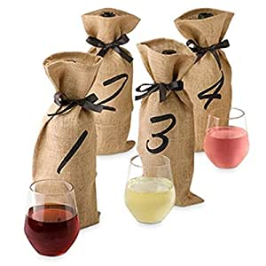 Epic 43-783 Wine Tasting Party Kit with 4 Numbered Bags & Score Card