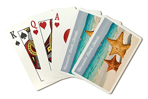 Clearwater Beach   Florida   Starfish On Beach  Playing Card Deck   52 Card Poker Size With Jokers