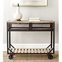 Safavieh American Homes Collection Shroder Natural Rolling Console Table