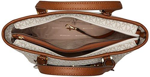 Michael Kors Mk Jet Set Signature Shoulder Bag, Vanilla , Large by Michael Kors (Image #5)