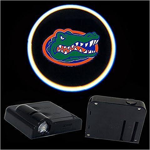 2pcs Universal Wireless Car Projection LED Projector Door Shadow Light Welcome Light Laser Emblem Logo Lamps Kit for Florida (Mustang Door Projector Lights)