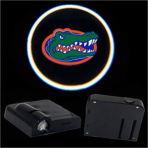 Gator Light (2pcs Universal Wireless Car Projection LED Projector Door Shadow Light Welcome Light Laser Emblem Logo Lamps Kit for Florida Gators)