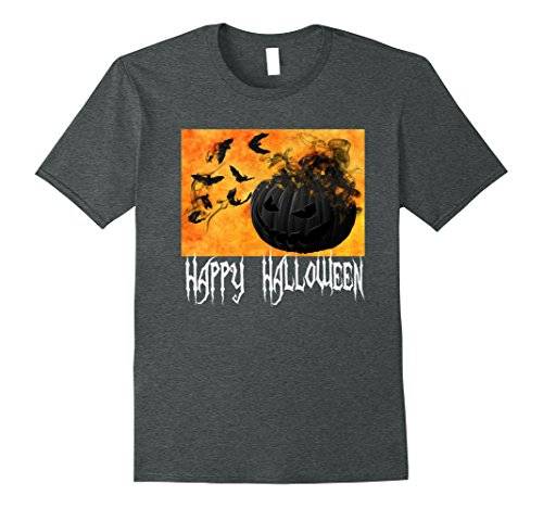 Mens Pumpkin Bat Tee. Halloween Costume Idea. Fun and Spooky 2XL Dark (Fun Halloween Costumes Ideas)