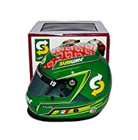 AUTOGRAPHED 2017 Daniel Suarez #19 Subway Team ROOKIE SEASON (Joe Gibbs Racing) Monster Energy Cup Series Signed Lionel NASCAR Replica Mini Helmet with COA by Trackside Autographs