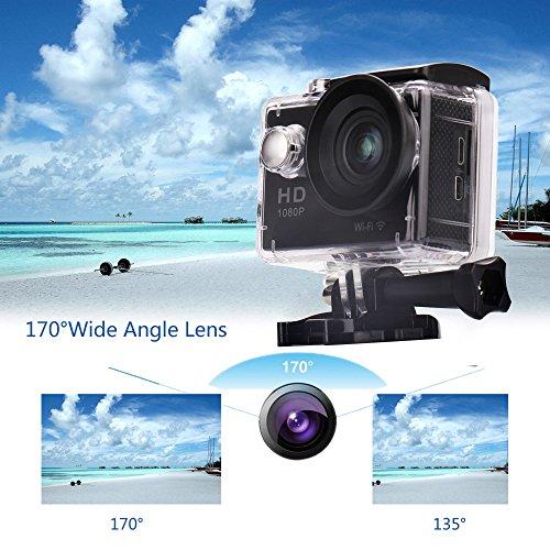 W9 12MP Sports Wi-Fi Action Camera (Black) - 3