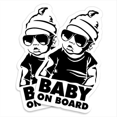 2er Set Hangover Baby on Board Autoaufkleber