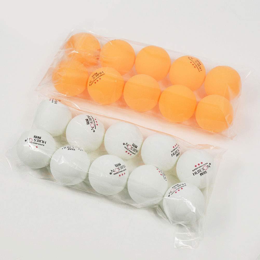 Vimbhzlvigour 10Pcs//Set Professional Durable 3 Stars Ping Pong Balls Training Competition Lightweight