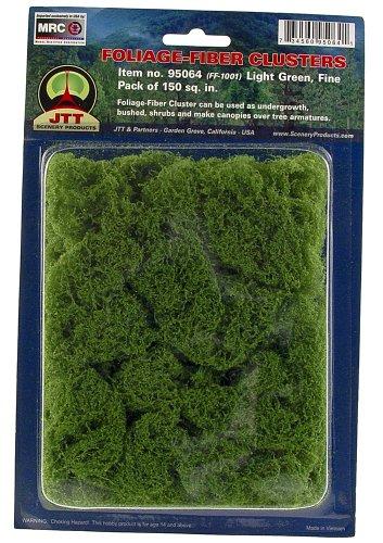 JTT Landscaping Material - Foliage Fiber Clusters, Light Green, Fine