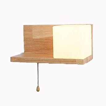 SEESUNG Moderne Quadratische Kopfteil, LED Holz Hotel Flur Gang  Wandbeleuchtung, Wohnzimmer Im