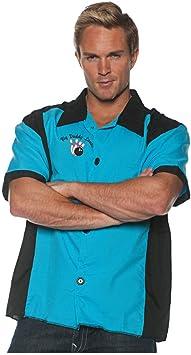 Horror-Shop Traje de Bolos Camisa Azul One Size: Amazon.es: Juguetes y juegos