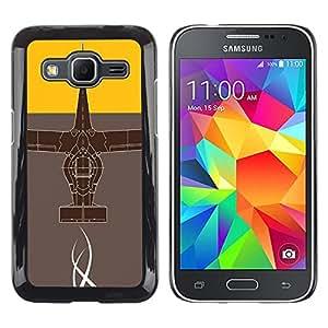 Caucho caso de Shell duro de la cubierta de accesorios de protección BY RAYDREAMMM - Samsung Galaxy Core Prime - Diseño abstracto