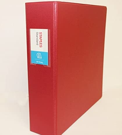 amazon com staples standard 2 inch slant d 3 ring binder red