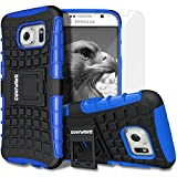 COVRWARE® Samsung Galaxy S7 (2016 Released) [Terrapin Series] Dual Layer Armor Protective Case with Built-in Kickstand + [ Screen Protector ] **Not Fit Samsung Galaxy S7 Edge** - Blue (CW-S7-T02)