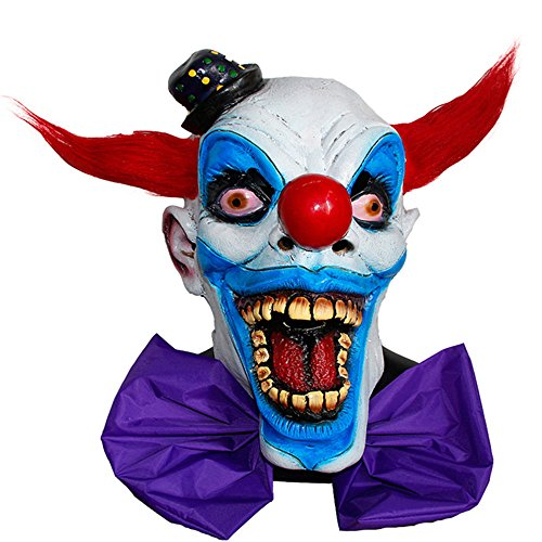 Acid Tactical Scary Creepy Halloween Clown Evil Latex Mask – Chompo Clown