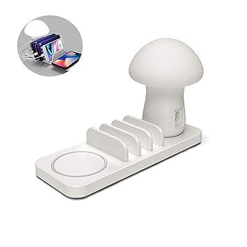YTBLF Cargador USB luz Seta, Cargador Escritorio USB Carga ...