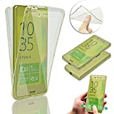 Sony Xperia X Performance Case,Vandot Luxury 360 Degree Full Body Front and Back Protection Soft Flexible TPU Case Utra Slim Thin Transparent Cover Non-slip Shock Absorbent Protective Skin-Crystal Clear