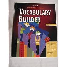 Glencoe Language Arts Vocabulary Builder, CR 5: Teacher's Annotated Edition, 2005