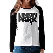 Women Linkin Park Rock Band Chester Bennington Cool Long Sleeve Raglan Tops Shirt