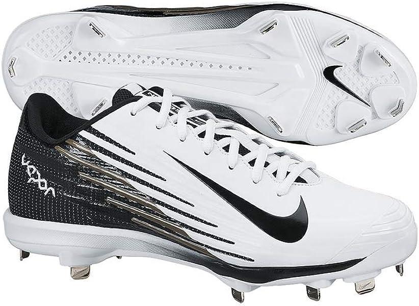 purchase cheap 3382a b13ae Nike Lunar Vapor Pro Low Men s White-Black Metal Baseball Cleats 11 US