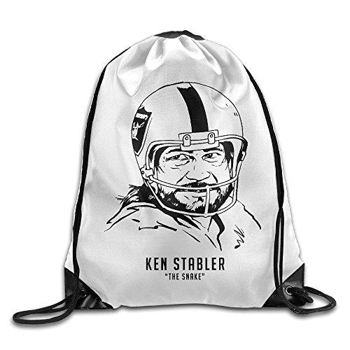 Creative Design Ken Stabler 12 Raiders Drawstring Backpack Sport Bag For Men And Women