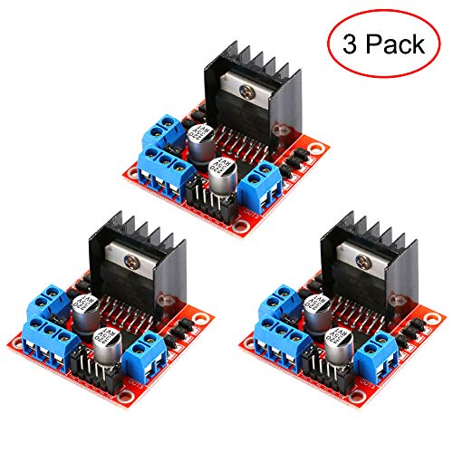 CJRSLRB 3-Pack L298N Dual H-Bridge DC Stepper Motor Drive Controller Board Module for Arduino Smart Car (18 Volt Dc Motor)