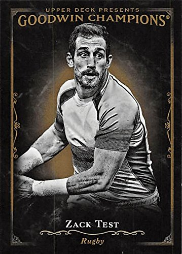 Zack Test trading card (Rugby) 2016 Goodwin Champions Black Editions #136