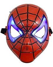 LED Glowing Superhero Halloween Light Spider Man Mask Children's Cartoon Mask Spider-man Toy Glow with Lamp Spiderman Mask