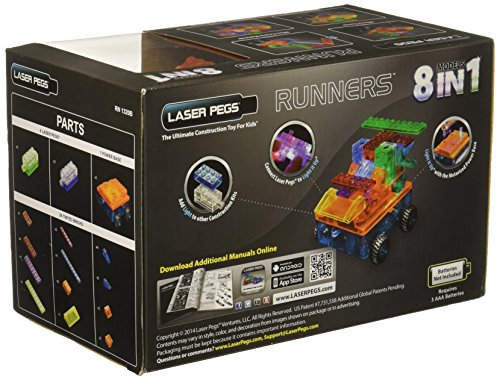 Laser Pegs 8-in-1 Car Runner Building Set - http://coolthings.us