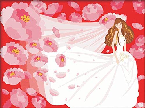 LoveTheFamily 数字油絵 数字キット塗り絵 手塗り DIY絵 デジタル油絵 牡丹の花と花嫁 30x40cm ホーム オフィス装飾
