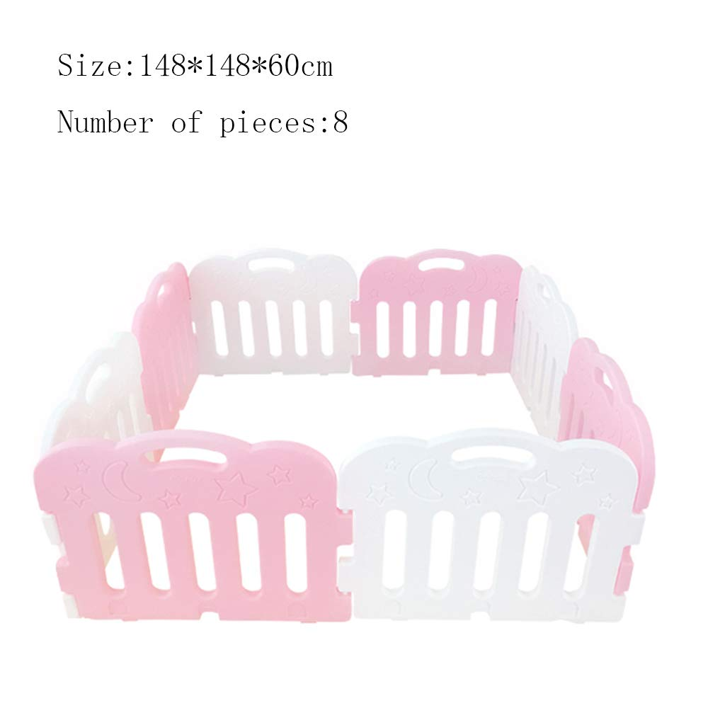 XIAOLIN プラスチックフェンス家庭幼児保護フェンス屋内遊園地の部屋のパーティション (サイズ さいず : 148 * 148 * 60cm) 148*148*60cm  B07GGK3CHL