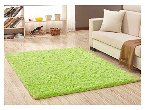 - Ultra Soft Bedroom Carpet,Decorative Sitting Room Shaggy Area Rug, Fluffy Kids Playing Pad with Anti-Slip Bottom,Water Absorbent & Quick Dry Area Rug (Lime Green,31