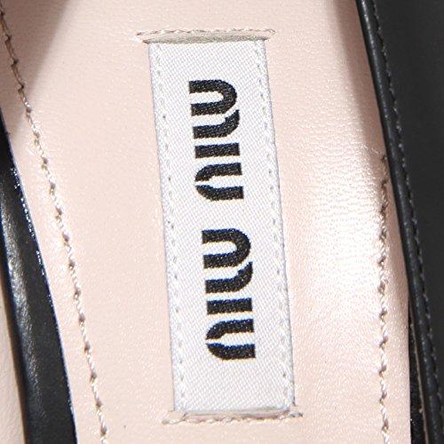 Women Heel Miu Shoes Decollete Donna Scarpa Bianco 61987 Nero Miu YYqaO