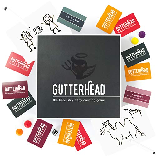 Gutterhead - The Fiendishly Filthy Drawing Game [Drinking & Party Game for Adults]