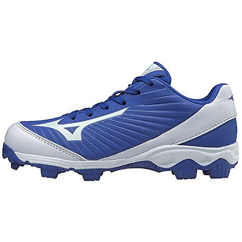Mizuno (MIZD9 Boys' 9-Spike Advanced Franchise 9 Molded Youth Baseball Cleat-Low Shoe, Royal/White, 2.5 US Little Kid