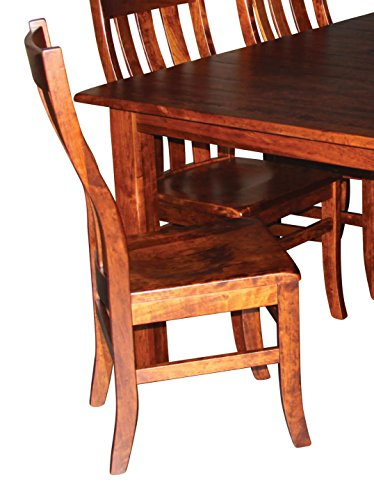 Amish Heirloom Solid Wood Armchair for Kitchen Dining Room Table - Captain's Chair Crafted to Last Generations (Maple) Amish Dining Room Furniture
