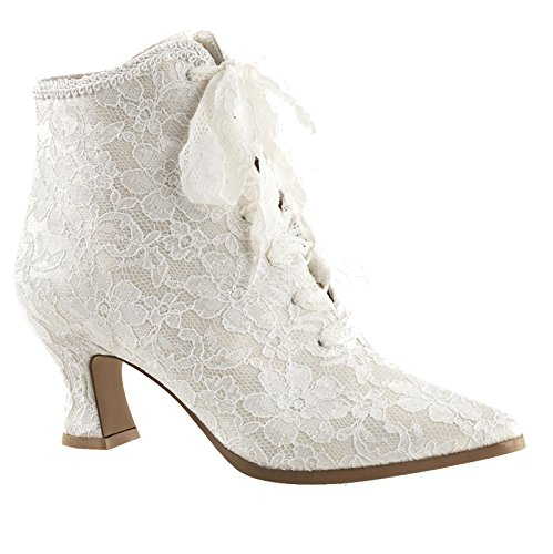 30 Size 7 Ivory Wedding Boots Granny Victorian -