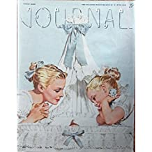 Al Parker 40's Color Illustration, rare cover art (mother and daughter looking at baby in bassinet) Original 1946 Ladies Home Journal Magazine Art