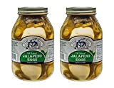 Amish Wedding Foods Old Fashioned Jalapeno Eggs 2 - 32 oz Glass Jars