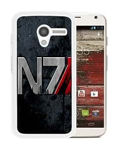 Hot Sale Motorola Moto X Case ,Mass Effect N7 White Motorola Moto X Cover Case Unique Popular Designed Phone Case