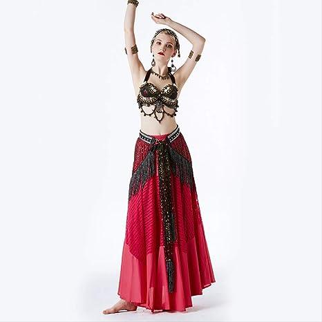 KLMWDDPWY Danza del Vientre Mujer Mujeres Profesionales Desgaste ...